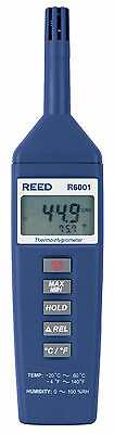 REED R6001 Thermo-Hygrometer, -4 to 140°F (-20 to 60°C), 0-100%RH