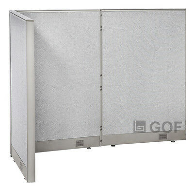 GOF L-Shaped Freestanding Partition 36D x 60W x 48H / Office, Room Divider