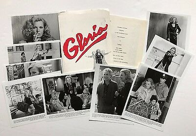 Gloria (1980) - Press Kit - Gena Rowlands!! 9 photos!