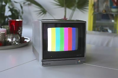 Panasonic tragbarer Video Monitor Color TV Fernseher TC-800 portable Vintage RAR