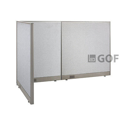 GOF L-Shaped Freestanding Partition 36D x 78W x 48H / Office, Room Divider