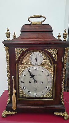A George Iii Mahogany Bracket Clock, Thomas Pace, London