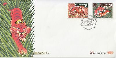 Singapore 1998 Year of  The Tiger, FDC
