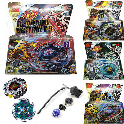 Fusion Top Metal Master Rapidity Fight Rare Beyblade 4D Launcher Grip Set Toys