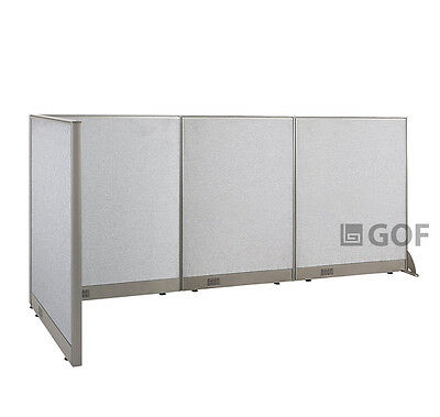 GOF L-Shaped Freestanding Partition 36D x 108W x 48H / Office, Room Divider