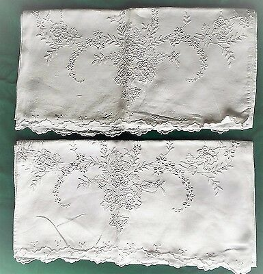 Vintage  Pillowcases/linen And Embroidery