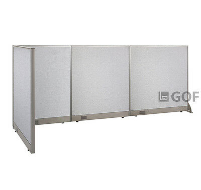GOF L-Shaped Freestanding Partition 36D x 126W x 48H / Office, Room Divider