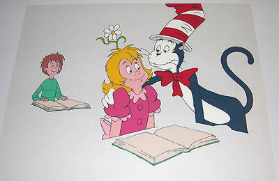 Dr. Seuss Cat in the Hat - Hand painted animation cel