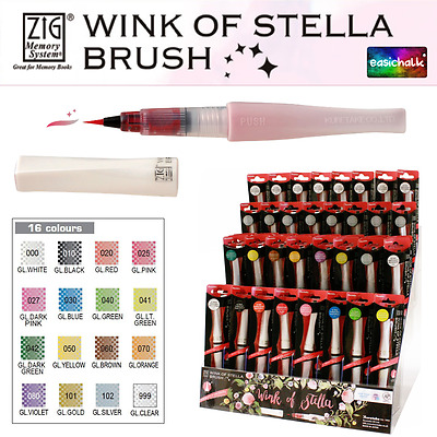Zig Kuretake Wink of Stella Glitter Brush Marker Pen *All 16 Colours*  Sparkle