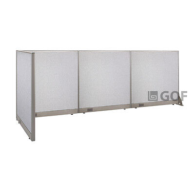 GOF L-Shaped Freestanding Partition 36D x 144W x 48H / Office, Room Divider