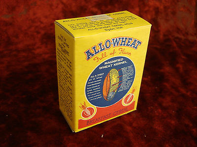 ALL-O- WHEAT CEREAL BOX   Ogden, Utah  UNUSED 1940's  MINT