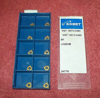 Komet   Carbide  Inserts     W27 12010 0460     Grade  Bk    Pack Of 10