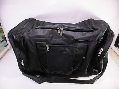 Everest Luggage Sporty Gear Bag - Large, Black, Black, One Size, 025-BK, Black