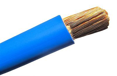 Welding Cable Blue #2 AWG GAUGE COPPER WIRE SAE J1127 CAR BATTERY SOLAR POWER
