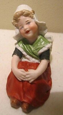 Antique Gerbruder Heubach Dutch Girl Bisque Planter