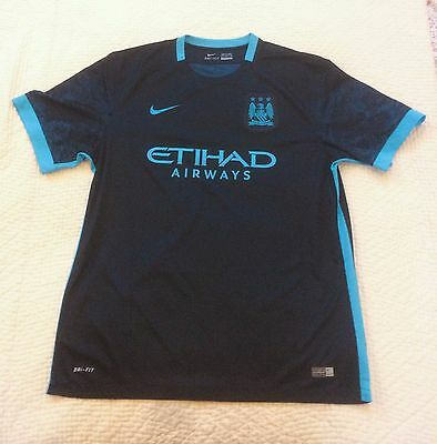 MANCHESTER CITY - Away Football Shirt - 2015/2016 - Short Sleeve - Mens XL