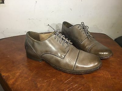 FRYE Erin Gray Leather Lug Oxfords Women's Shoes Size 7 M