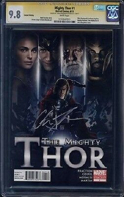 CGC SS 9.8 Mighty Thor 1 Photo Variant 2nd print signed by Chris Hemsworth