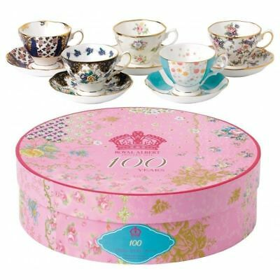 Royal Albert 100 Years 5 PC TEACUP / CUP AND SAUCER SET 1900 - 1940 - NEW/BOX!