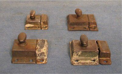4 assorted vintage turn knob cabinet cupboard pantry door latches catches