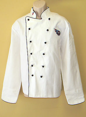 New Nfl Tennessee Titans Premium Chef Coat 100% Cotton L Size Football Chief