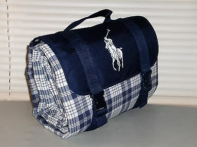 POLO RALPH LAUREN The Ralph Lauren Outdoor Blanket, Picnic, BIG PONY Plaid, Navy