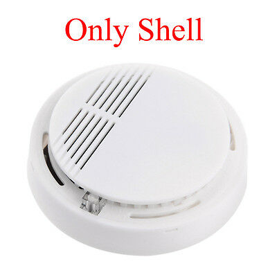 Security Standalone Smoke Detector Fire Alarm Photoelectric Sensor Shell Case