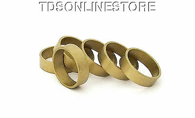 """Raw Brass Flat Ring Blanks 1/4"""" Wide Size 9  Pkg Of 6"""