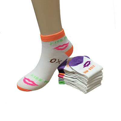 New Lot 12 Pairs Dozen Fashion Womens Casual Multi Color Size 9-11 Low Cut Socks