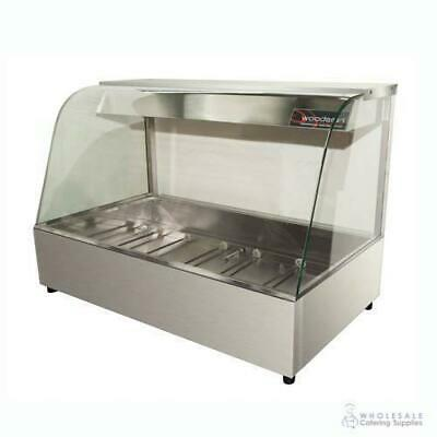 Hot Food Display Curved Front 3 Bay Benchtop Woodson W.HFC23 NO PANS INCLUDED