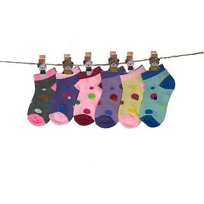 Lot 12 Pairs Newborn Baby Girls Cotton Kids Soft Ankle Socks Multi Color Fashion