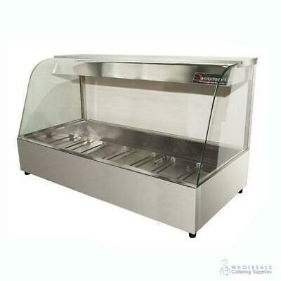 Hot Food Display Curved Front 5 Bay Benchtop Woodson W.HFC25 NO PANS INCLUDED