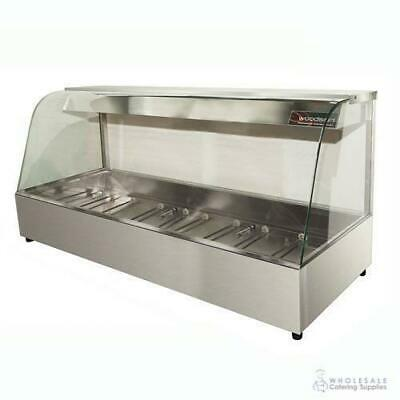 Hot Food Display Curved Front 6 Bay Benchtop Woodson W.HFC26 NO PANS INCLUDED