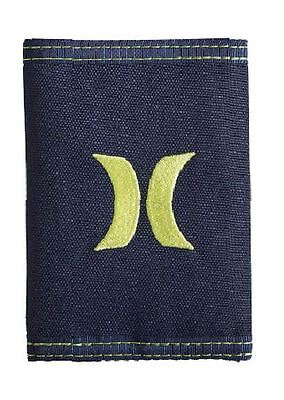 HURLEY New Mens Boys Wallet ONE & ONLY Trifold Navy Yellow
