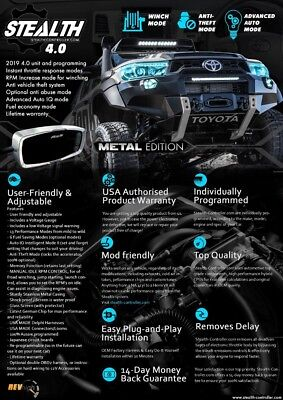 TOYOTA HILUX PERFORMANCE STEALTH 3.0 CONTROLLER  Tune Chip Idrive Throttle TRD