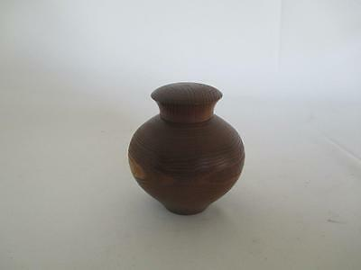 Japanese wooden tea caddy Chatsubo/ Mulberry/ nice wood grain/ 6423