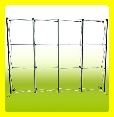 10' Pop Up Trade Show Display Backdrop Booth Frame, STRAIGHT
