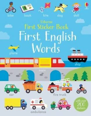 First Sticker Book First English Words by Kirsteen Robson 9781409595120