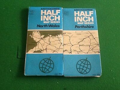 Collection Bartholomew Maps North Wales Perthshire