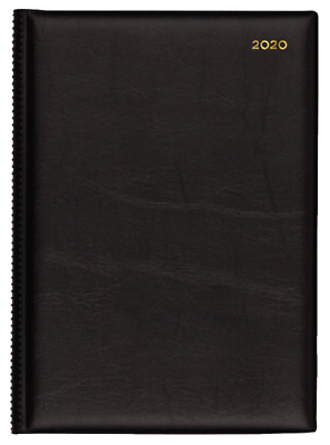 2019 Collins Belmont A4 Week to View Open WTV Diary 347.V99-19 30x22cm BLACK