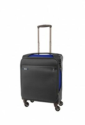 NEW Samsonite Monotrax Expandable Spinner Suitcase in Charcoal/Blue, 55cm