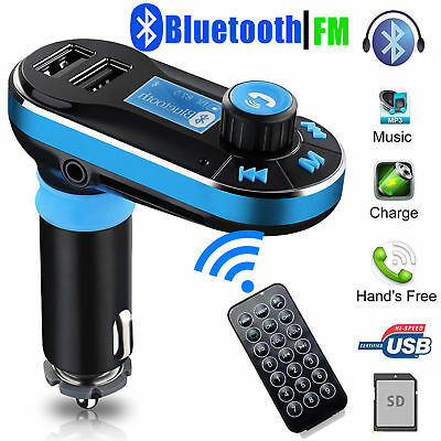Car Kit Bluetooth FM Transmitter Wireless MP3 Player Radio Adapter 2USB Charger