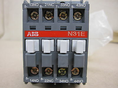 ABB N31E Contactor Relay Din Rail or Base Mounting 16 amp New