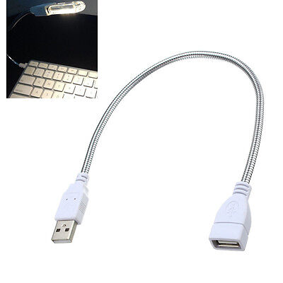 USB Power Apply Cable Extension Cord Flexible Metal Tubing for USB Lamp Bulb