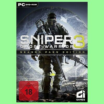 Sniper Ghost Warrior 3 III Season Pass Edition Spiel Key - Steam PC Code [DE]