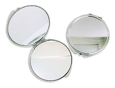 Silver 60mm Metal Mirror Blank Compact - DIY Craft, Decoden, Accessories