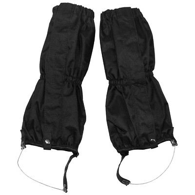 MFH Tactical Waterproof Walking Gaiters Bushcraft Hiking Trekking Winter Black