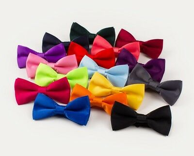 New Baby Toddler Boys Pre Tied Satin Feel  Bow Tie Dickie Bow
