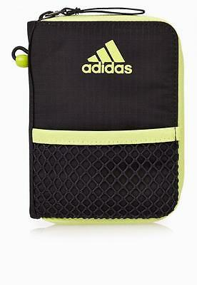 adidas performance unisex grey nylon zipper around closure wallet 15 x 10 x 2 cm