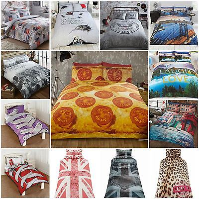 Fun Novelty College Teenager Style Duvet Quilt Cover Bedding Sets - Many Designs
